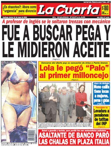Las 5 mejores portadas de \'La Cuarta\' en la era de Diozel Pérez - El ...