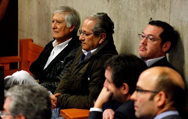 Maulén,  Diaz y Zuñiga, durante la formalización. /Agencia Uno