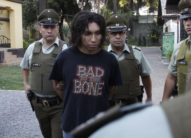 Angulo al ser detenido en marzo del 2012 /Agencia Uno