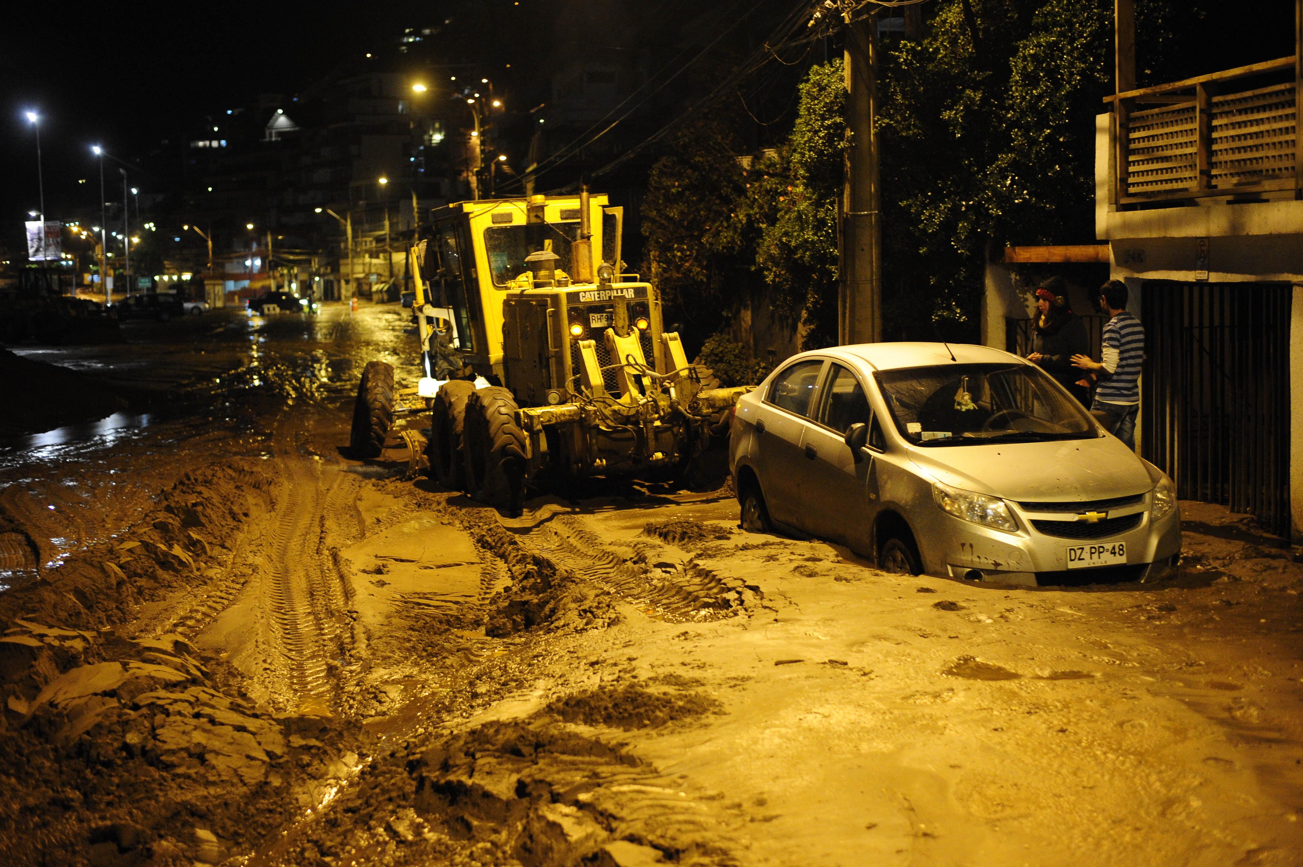 Deslizamiento de tierra en borde costero Reñaca