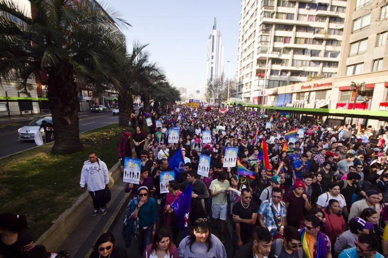Marcha por el orgullo gay y la adopción homoparental