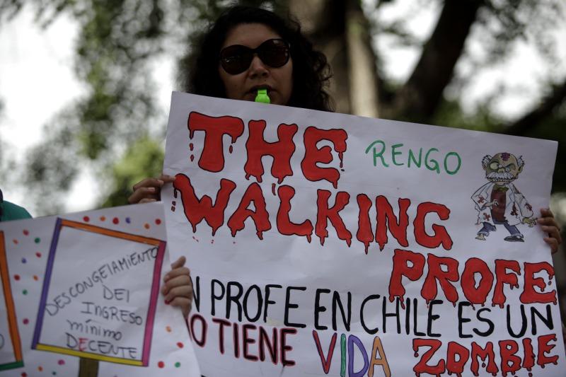 Profesores se manifiestan en contra de la agenda corta