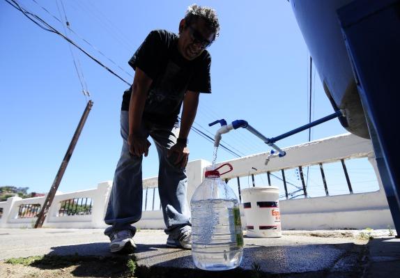 Corte de agua potable en Valparaíso