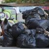 Acumulación de basura en Santiago producto de paro