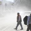 COPIAPO: Polvo en suspensión en las calles de Copiapo