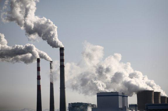 Smoke billows from a power plant in Wuzhong, of the Ningxia Hui Autonomous Region