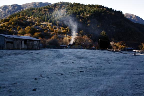 Intensa ola de frío afecta a gran parte de la región de Aysén