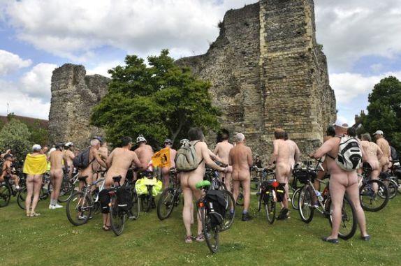ciclistas con ereccion