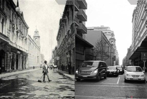 En Terreno: la transformación de Calle Agustinas entre 1915 y 2014.