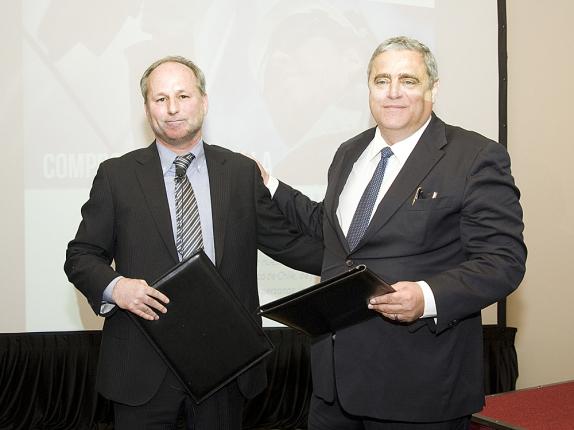 Firma del Acuerdo de Cooperación Técnica entre ENAP y CAF-Banco de Desarrollo de América Latina para auditorías energéticas.