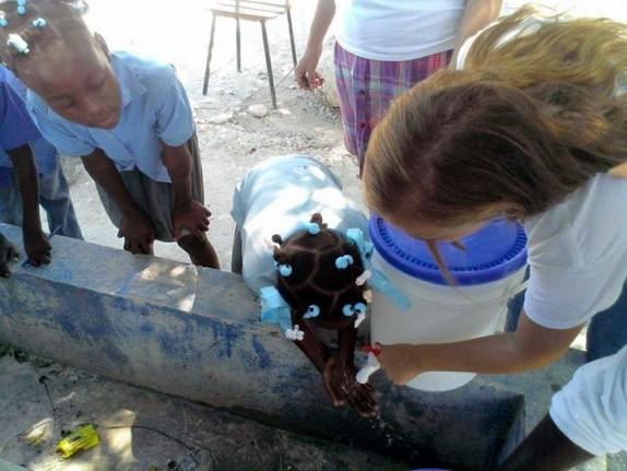 Lavado de manos en Boutin