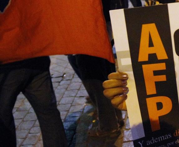 Protesta en contra de las AFP