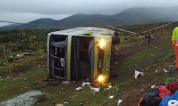 Volcamiento de bus en Ovalle deja cuatro personas fallecidas