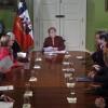 Michelle Bachelet recibe a los presidentes de los partidos y movimientos politicos