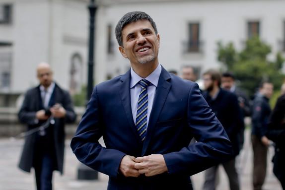 El Ministro Marcelo Diaz realiza voceria en el Palacio de la moneda