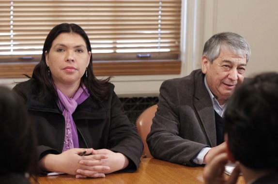 Bárbara Figueroa y  Arturo Martínez