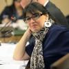 Ministra de Justiacia en la Comision especial  de Gendarmeria