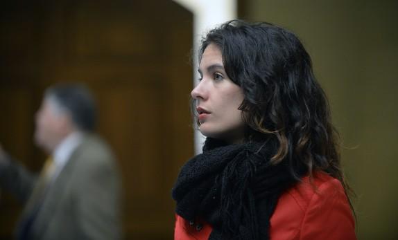 Camila Vallejos en la Camara de Diputados