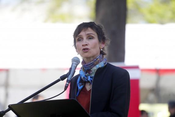 Alcaldesa de Santiago realizo Tijerales de  Fiestas Patrias en Parque OHiggins
