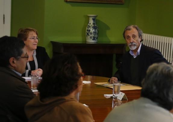 31 de agosto: Reunión de la Coordinadora No+AFP con Michelle Bachelet en La Moneda