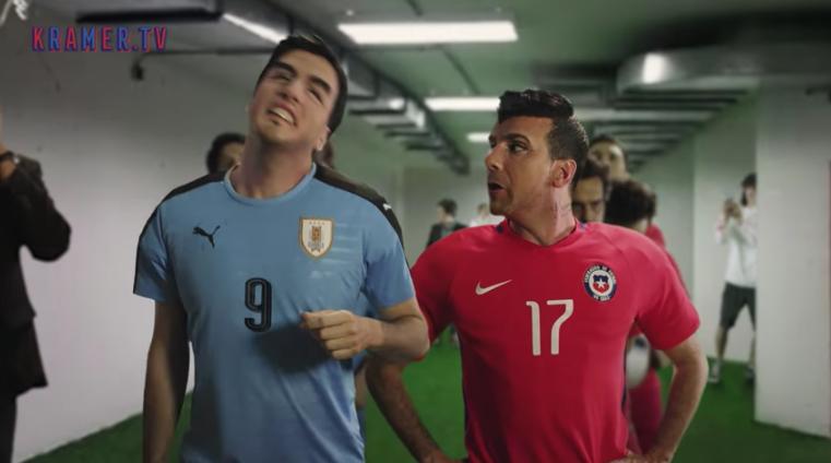 VIDEO |Kramer calienta la previa de Chile y Uruguay enfrentando a Gary Medel con Luis Suárez