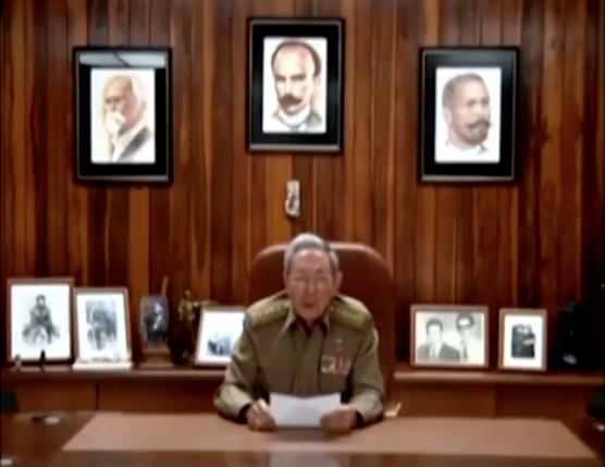 VIDEO | Así anunció Raúl Castro en televisión la muerte de su hermano Fidel