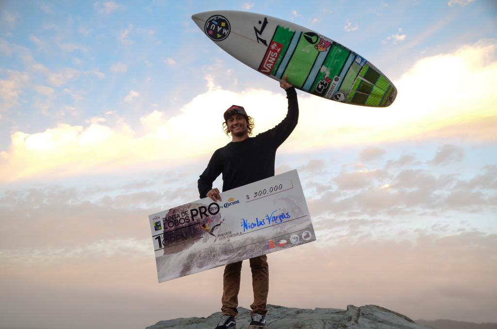 Nicolás Vargas se corona como el mejor de Chile en el Punta de Lobos Pro by Corona
