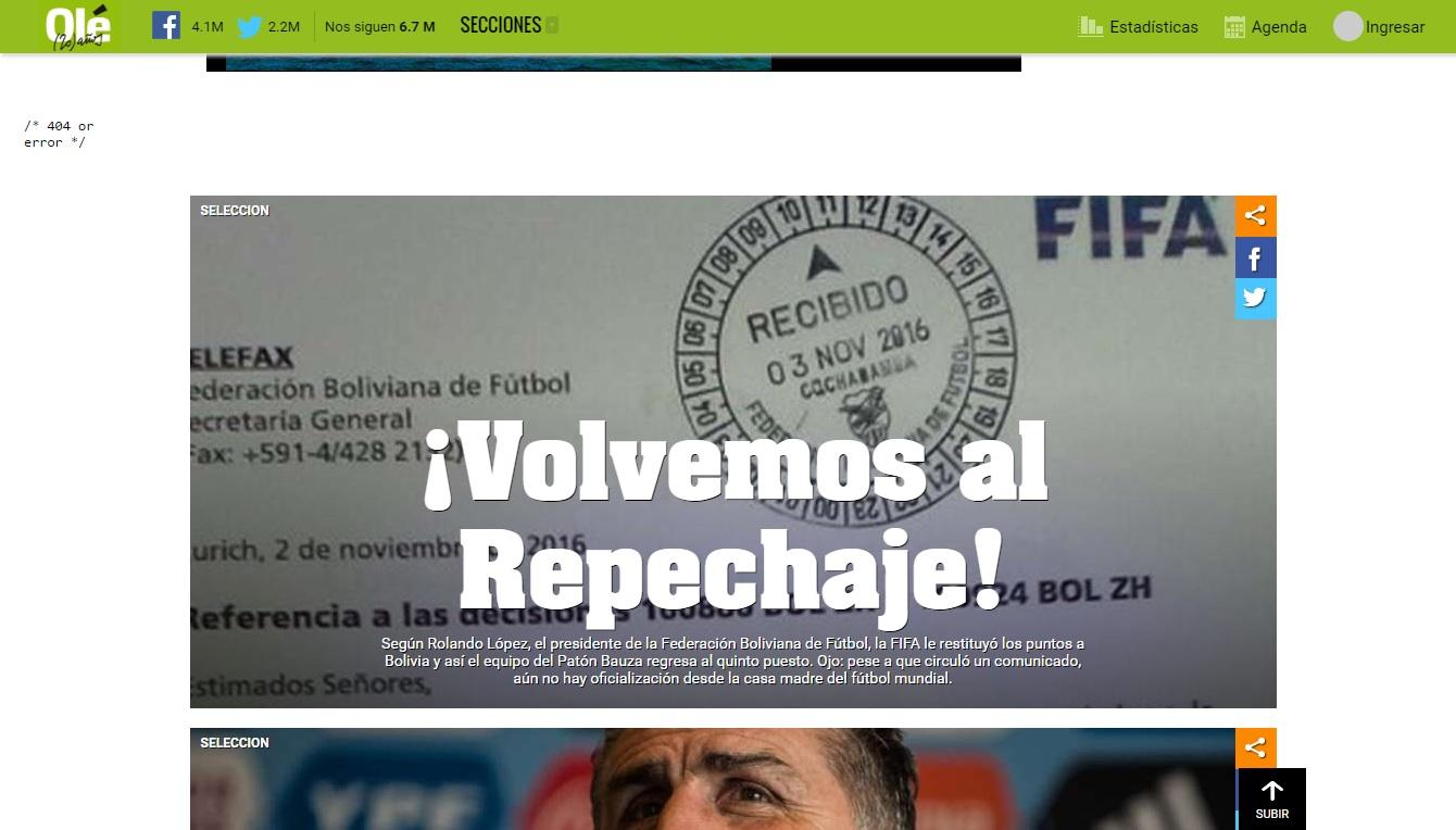 Genial: las portadas de medios argentinos que cayeron en el fail de la FBF