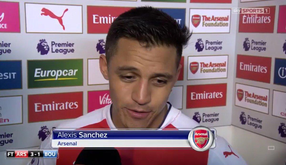 VIDEO |Alexis Sánchez sacó a relucir su inglés tras su doblete con el Arsenal