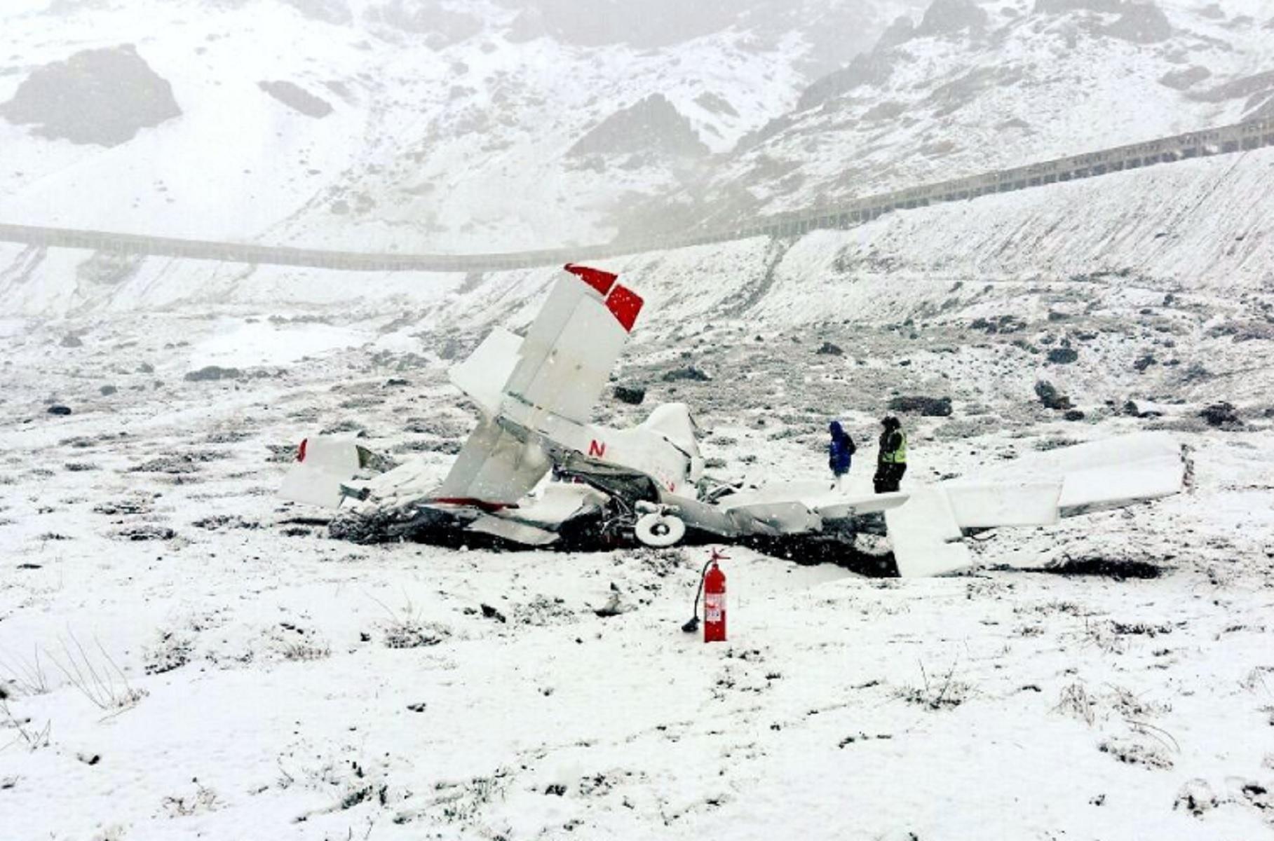 Accidente de avioneta en Los Andes en plena tormenta: un fallecido