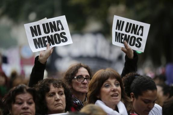 ARGENTINA-VIOLENCIA DE GENERO MARCHA