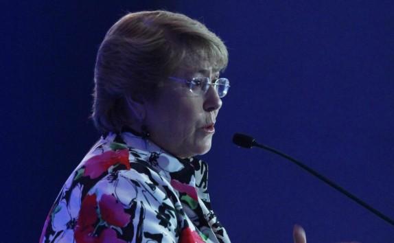 Michelle Bachelet  asiste a la jornada de Clausura de la 19 Conferencia Internacional de Supervisores Bancarios.