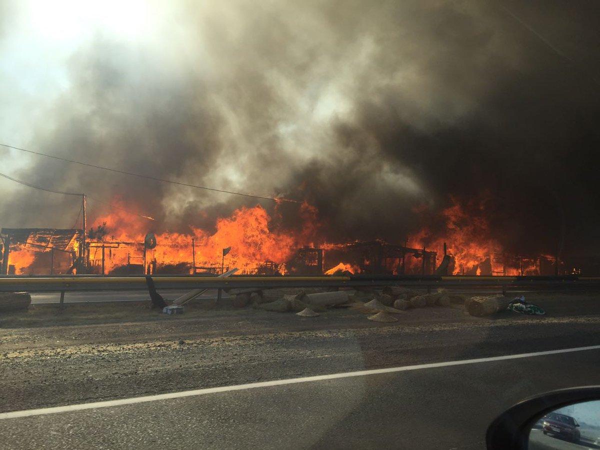Incendio destruyó por completo el campamento Las Totoras de Quilicura y dejó 100 familias afectadas