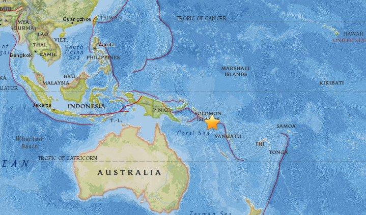 Terremoto 7,8 sacudió a las Islas Salomón: SHOA descarta amenaza de tsunami en Chile