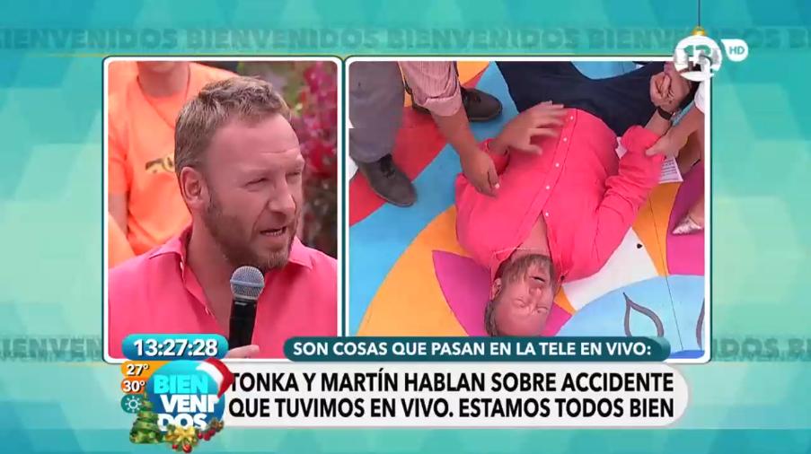 """Martín Cárcamo y accidente en vivo en matinal 'Bienvenidos': """"Son cosas que pasan, estamos bien"""""""