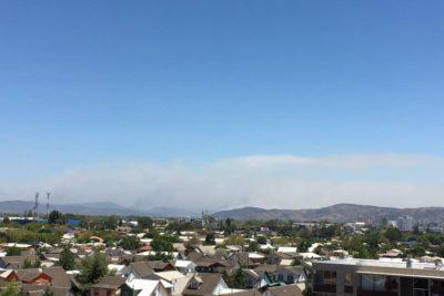 FOTOS | Antes y después: impactante diferencia en el cielo de Talca en sólo dos horas de incendio