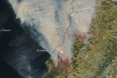 NASA capta imágenes del increíble avance de los incendios en solo un día