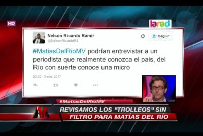 VIDEO |El día en que Matías del Río respondió en pantalla a su larga lista de troles