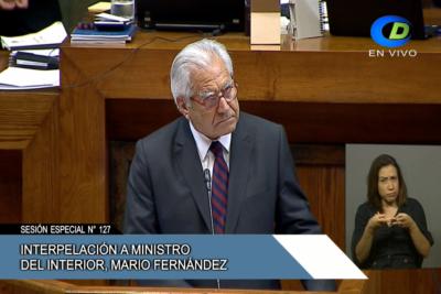 EN VIVO |Sigue la interpelación del diputado Juan Antonio Coloma al ministro del Interior