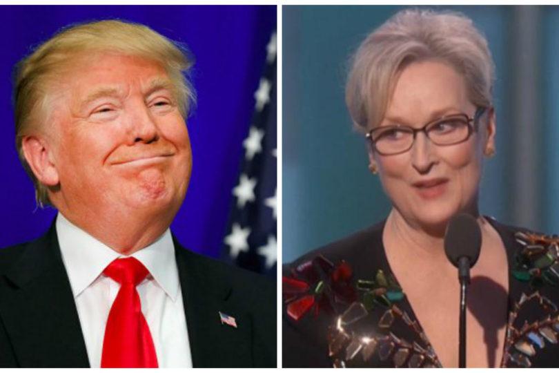 """Sobrevalorada"" y ""lacaya de Hillary"": Trump responde a Meryl Streep"