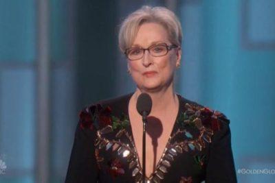 VIDEO |El discurso más político de Meryl Streep: critica a Trump y el racismo en los Globos de Oro