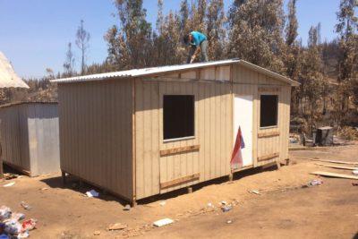 FOTOS | TECHO entrega las primeras viviendas de emergencia para damnificados de Hualañé y Paredones