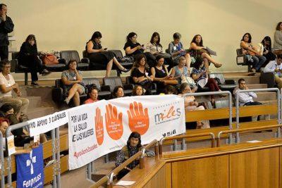 FOTOS |Mujeres en el Senado repudiaron a opositores del aborto con este simple gesto