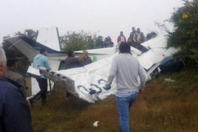 Avioneta capotó en Tirúa cuando intentaba aterrizar: cuatro fallecidos