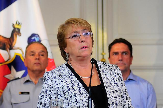 Bachelet confirmó la detención de 43 personas en 36 incendios forestales