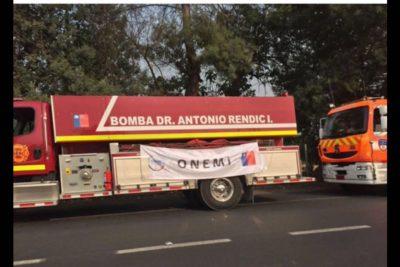 Bomberos denuncian que los detuvieron dos horas para sacarles una foto con logo de la Onemi