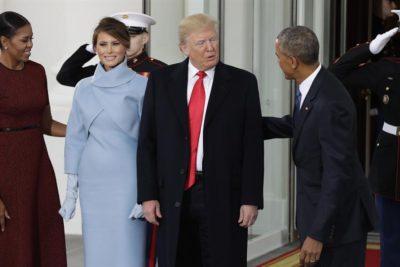 VIDEO | Así fue el momento exacto en que Obama recibió a Trump en la Casa Blanca