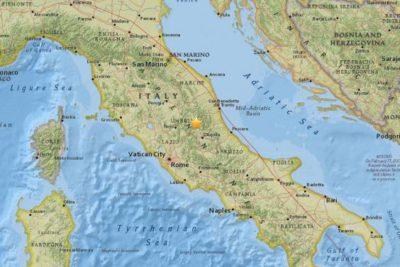 Enjambre sísmico afecta misma zona de Italia que sufrió potente terremoto en agosto del 2016
