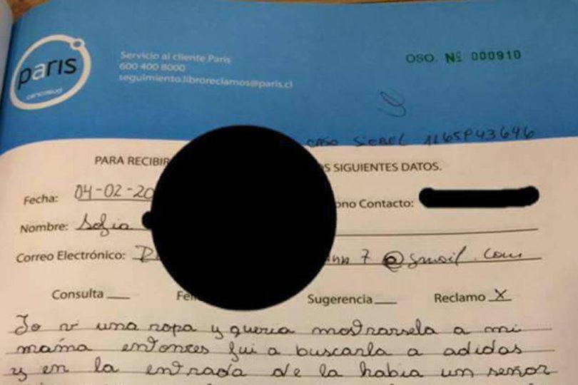 El conmovedor relato de una niña de 10 años que denunció acoso en el libro de reclamos de Paris