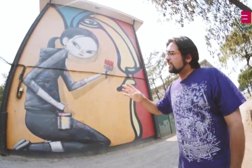 VIDEO   A lo City Tour: profesor grafitero hace recorrido por los mejores murales de San Miguel